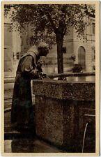 1920/40 Milano - La fontana di San Francesco, statua del santo - FP B/N