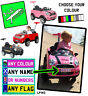 Personalised KIDS NUMBER PLATE (s) for MINI COOPER PUSHBUGGY car toy rideOn