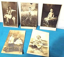 Real Photo Postcard (RPPC) 5 CARDS one card has the name of the child and 1912