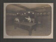 Large 1910 Card Mounted Photo of two Men Playing Pool