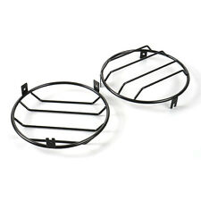 Fit for 97-2006 Jeep Wrangler Front Headlight Lamp Guard Cover Metal Black 2Pcs