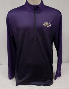 Brand New Majestic NFL Baltimore Ravens Half Zip Coolbase Sweatshirt