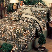 Realtree Max 4 Camo 4 Pc Queen Comforter Set - Cabin Lodge Camouflage Bedspread