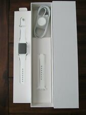 Apple Watch 38mm Stainless Steel Case White Sport Band - (4J2T2Z/A)