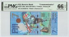 Fiji 2016 (ND 2017) P-120a PMG Gem UNC 66 EPQ 7 Dollars *Commemorative*