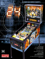 24 Pinball Machine FLYER Original 2009 Stern NOS TV Show Promo Artwork Sheet