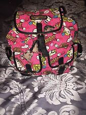Anna Smith Pink Comic Backpack BNWT
