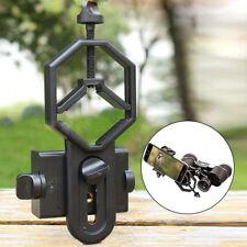 Mobile Smart Phone Telescope Adapter Holder Mount Bracket Spotting Scope Black