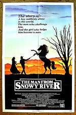 """""""THE MAN FROM SNOWY RIVER"""" -- just a kid, who grew UP toooo fast / 1982 poster"""