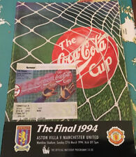 More details for coca-cola cup final aston villa v manchester united 27th mar 1994 & ticket stub