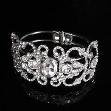 Vintage Crystal Wedding Bangle Rhinestone Bridal Bracelet Jewelry Fashion Gift