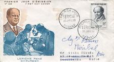 FRANCE FDC - 235 1145 1 GRANDS MEDECINS RENE LERICHE 25 1 1958