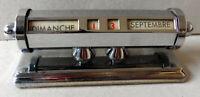 Ewiger Kalender Tischkalender Art Deco - Frankreich 1930 - Chrome