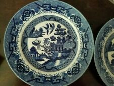 4 Blue Willow Dinner Plates Japan 9 1/2""