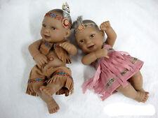 "Handmade Reborn Native American Indian doll Lifelike Vinyl Boy Girl 11"" Twins"