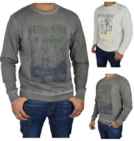 New Mens Jumper Crew Neck Pull Over Printed Jersey Sweater Top Sweatshirt S-XXL