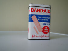 Vintage 1960s Tin BAND-AID Box Made in Great Britain