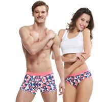 Lovers Couple Underwear Men's Boxer Briefs Shorts Women's Panties Knickers Thong