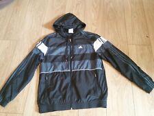 Vintage 1990 ADIDAS felpa con cappuccio giacca piccola