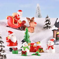 Resin Christmas Series Miniature Figurine Xmas Garden Decor Micro Landscape FABD