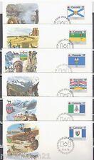 1979 - SERIE DE 12.FDCs 1°JOUR -INSIGNES DES PROVINCES-CANADA 17/YtP.N°707A/707M