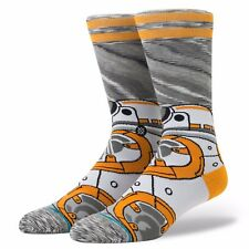 STANCE MENS STAR WARS SOCKS.BB-8 ASTROMECH GREY LONG CREW SIZE LARGE UK 8.5-11.5