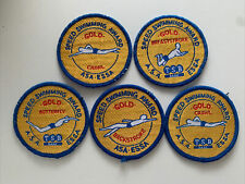 More details for speed swimming award x5 patches asa essa gold crawl butterfly backstroke breast