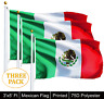 G128® THREE PACK of 3' x 5' ft Polyester Mexican Flag MEXICO High Quality