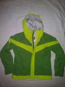 🏂Burton Winter Snowboard Unisex Insulated Jacket Unisex Kids Sz Medium Green🏔