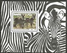 Namibia - Weltweiter Naturschutz: Bergzebra Block 3 postfrisch 1991 Mi. 706