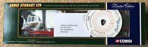 CORGI CC12802 SCANIA T-CAB BULK TIPPER EDDIE STOBART MIB RARE LOW CERT 0006