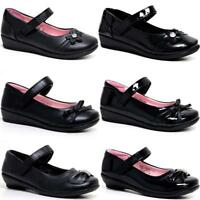 Girls School Shoes New Kids Formal Party Evening Black Back To School Shoes Size