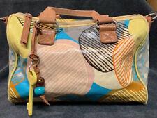 FOSSIL Key-Per Retro Coated Canvas Multi-Color Tote Bag Medium