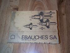 Ebauches SA 2001 Neuchatel Suisse - Watch Repairing  PB ILLUS 2001