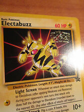 PL ELECTABUZZ Pokemon PROMO Card #2 Rare Wizard BLACK STAR Set Movie Release WB