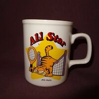 All Star Garfield Tennis Coffee Mug 11 oz Cup  Ceramic Jim Davis 1978