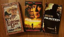 Lot of 3 VHS Rules Of Engagement Tommy Lee Jones Hunted Lonesome Dove Tapes Dead
