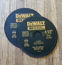 2-DEWALT DW4725B 4-1/2-Inch High Performance Diamond Masonry Blades