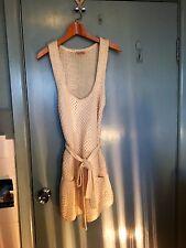 Fleur Wood wool dress jumper in white in size 4