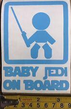 Car Window Decal - Baby Jedi On Board Vinyl Sticker  - Van, laptop Star Wars