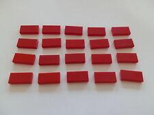 Lego 3069b# 20x Kachel Fliese Platte 1x2 Rot 7725 1620 8144 4557