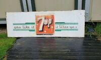 Vintage 7UP it likes you Metal Sign Original 1955 Coke Cola Soda store RARE