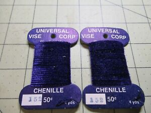 CHENILLE Universal Vice Fly Tying Jig Material NEW 152 Violet 8 Yards