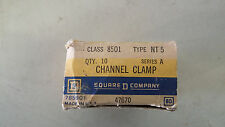 SQUARE D 8501 NT 5 NEW IN BOX LOT OF 10 CHANNEL CLAMP SEE PICS #B58