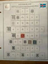 Iceland stamp collection 1890-1966