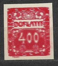 Czechoslovakia, Postage due Mi. 11 double print