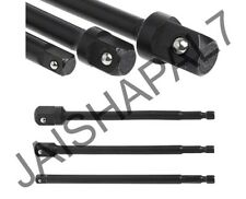 """3pc 150mm Socket Adaptor Hex Extension 1/4"""" 3/8"""" 1/2"""" fits IMPACT DRIVERS CR-V"""