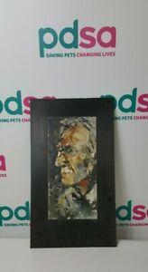 Original Oil on Metal Portrait Mounted on Slate (Unknown Artist) - OF1305