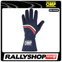 OMP DIJON Karthandschuh Handschuhe Professionell  Motorsport Blau