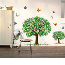 Butterfly Tree boarder Removable Kid Nursery Wall Decal Vinyl Stickers Art Decor